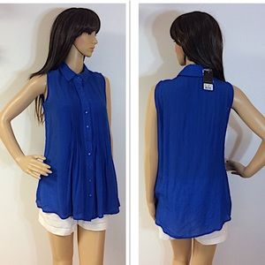 GORGEOUS COBALT BLUE TUNIC/TOP/BLOUSE